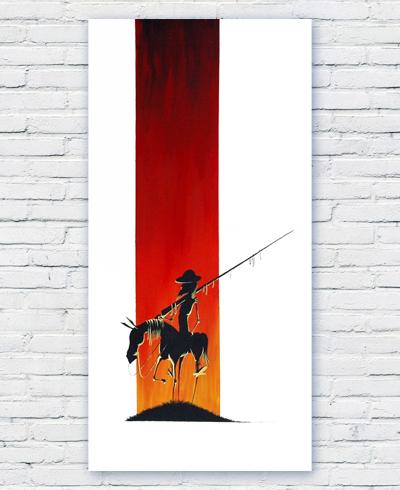 Don Quixote Sunset illustrazione feroldi