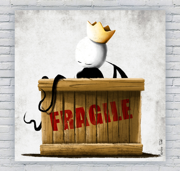 Fragile illustrazione feroldi